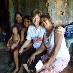 Laura in visita alle famiglie dei figliocci adottati